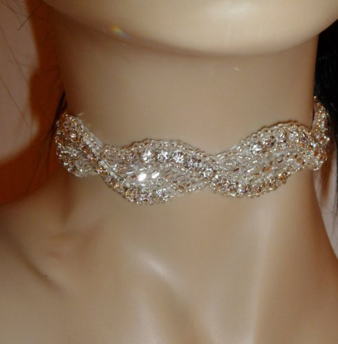 rhinestone necklace choker